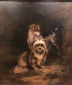 19th Century Portrait of Jerry and Dot a Pair Two Naughty Friends