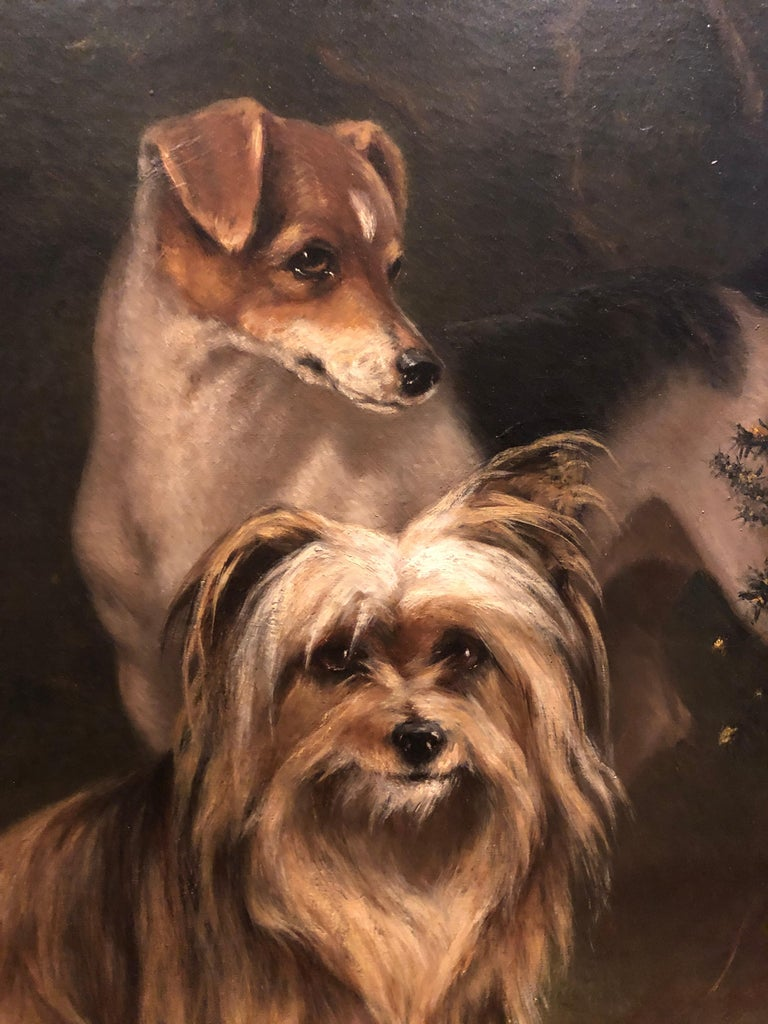 19th Century Portrait of Jerry and Dot a Pair Two Naughty Friends - Painting by Imogen Mary Collier