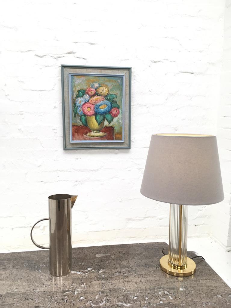 Australian Impasto Oil Painting Floral Still Life 1960s style of William Dobell For Sale