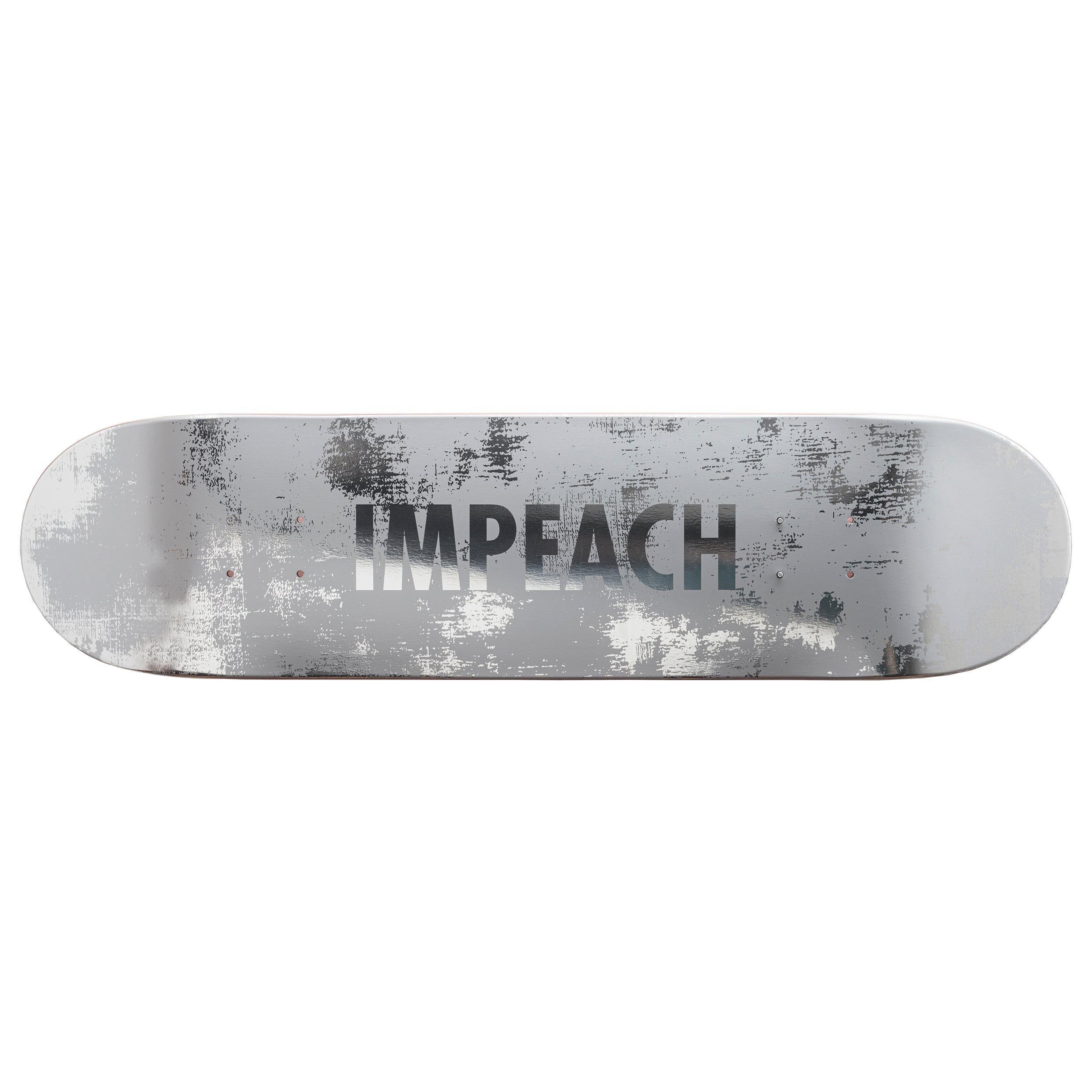 Impeach 'Wood' Skateboard Deck by Jenny Holzer