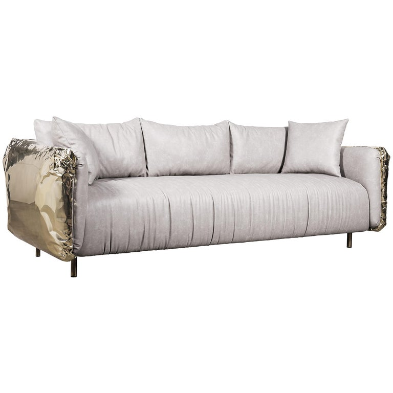 Swell Imperfectio Sofa With Hand Hammered Brass Creativecarmelina Interior Chair Design Creativecarmelinacom
