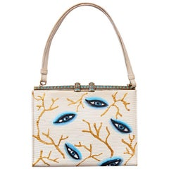 Imperfectly Perfect by Rebecca Moses Hand Painted Lizard Frame Bag