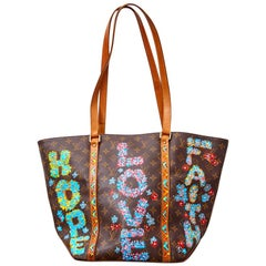 Imperfectly Perfect by Rebecca Moses Hand Painted Louis Vuitton Tote