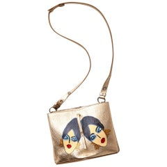 Imperfectly Perfect by Rebecca Moses Hand Painted Margiela Cross Body Bag