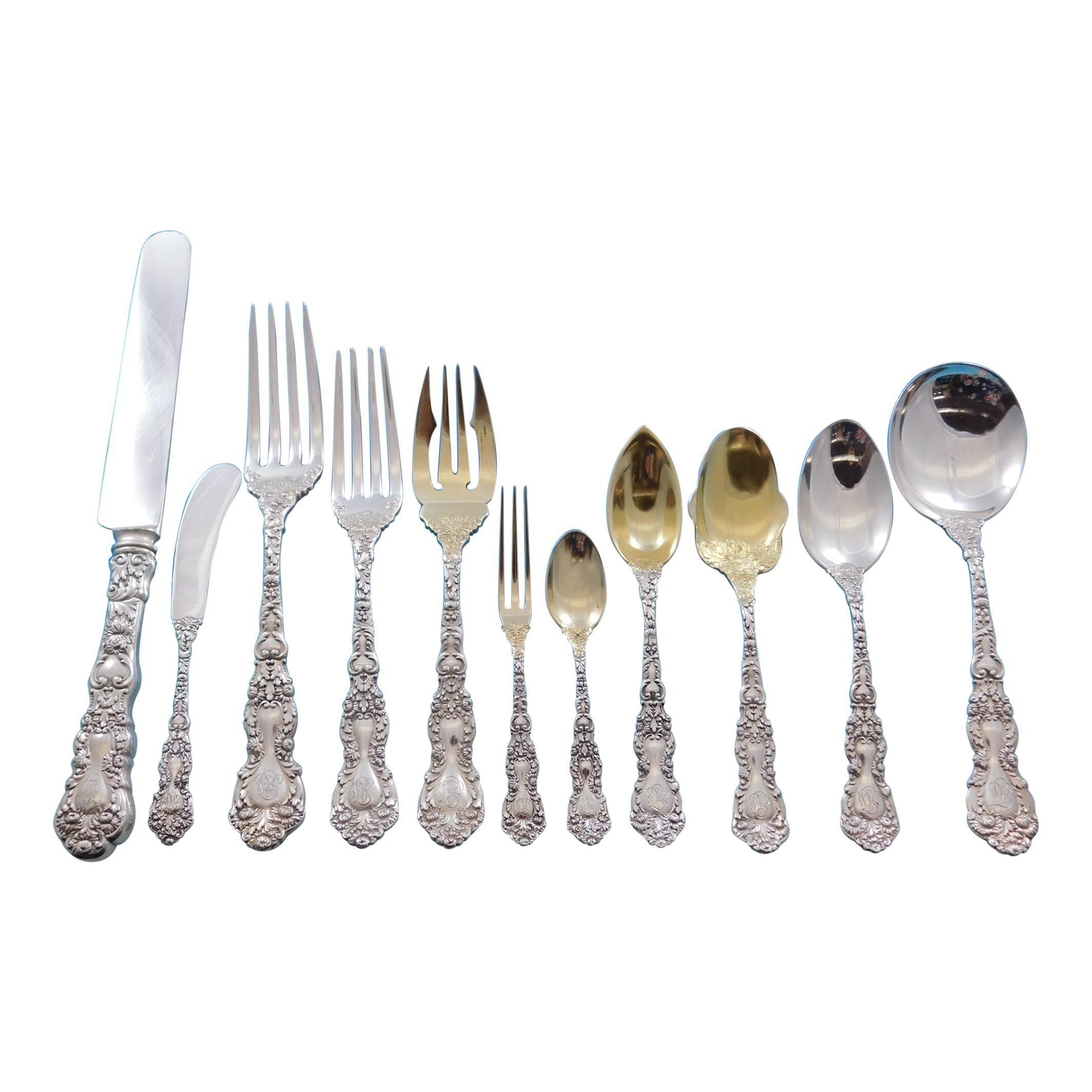 Imperial Chrysanthemum by Gorham Sterling Silver Flatware Set Service 162 Pieces