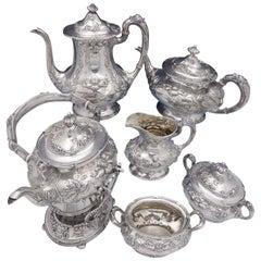 Imperial Chrysanthemum by Gorham Sterling Silver Tea Set 6-Piece Antique