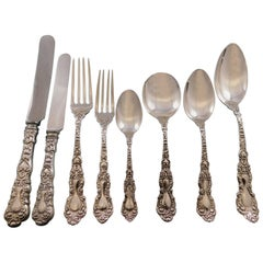 Imperial Chrysanthemum Gorham Sterling Silver Flatware Set Service 96 Pcs Dinner
