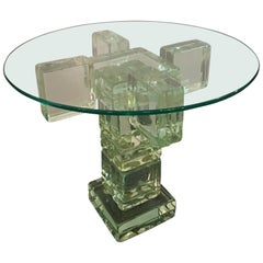 Imperial Imagineering Glass Block End Table