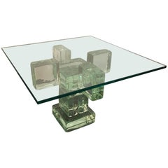 Imperial Imagineering Glass Block Side Table or Coffee Table