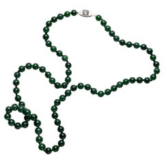 Imperial Jade & Diamond Necklace Certified Untreated
