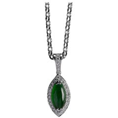 Imperial Jade Pendant GIA Certified Untreated