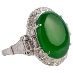 Imperial Jade Ring GIA Certified Untreated, circa 1950