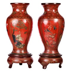Imperial Pair of Vases Chinese, 19th Century