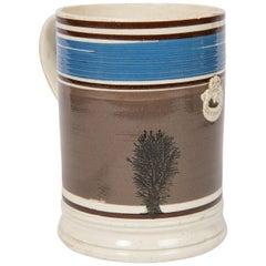 Imperial Quart Mochaware Mug, England, circa 1840