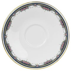 Imperial Royal Doulton Bone China Saucer with Floral and Gold Design, England