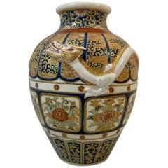 Imperial Satsuma earthenware vase, circa 1870, Meiji Period.