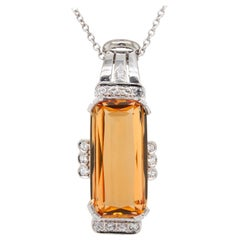 Imperial Topaz and Diamond Cocktail Pendant