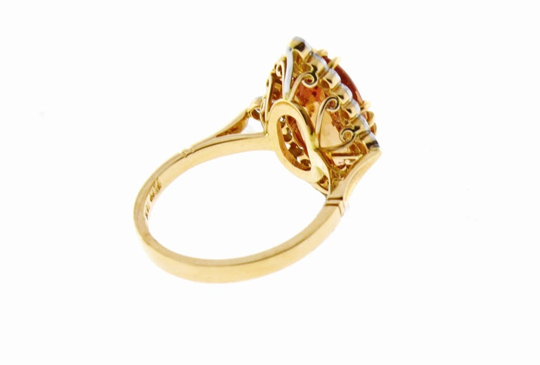 Imperial topaz and Diamond Ring by Pampillonia For Sale 2