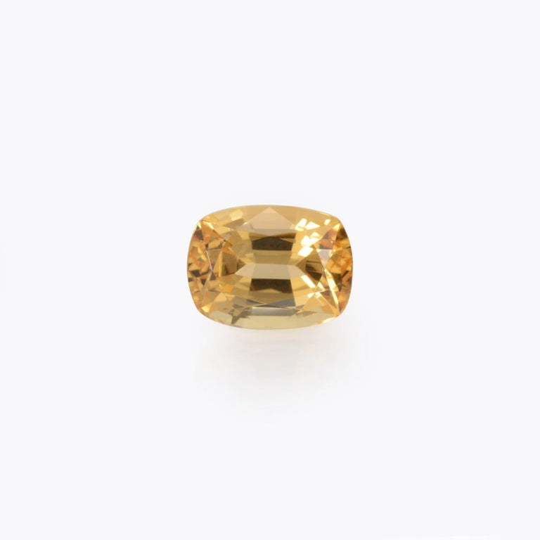 Special 3.52 carat Precious Brazilian Imperial Topaz cushion gemstone, offered loose. Returns are accepted and paid by us within 7 days of delivery. We offer supreme custom jewelry work upon request. Please contact us for more details. For your
