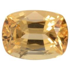 Imperial Topaz Ring Gem 3.52 Carat