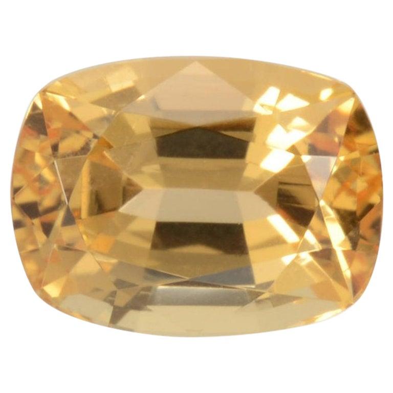 Imperial Topaz Ring Gem 3.52 Carat For Sale