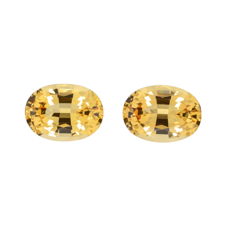 Imperial Topaz Earring Gemstones 8.26 Carats Oval Brazilian Loose Gems