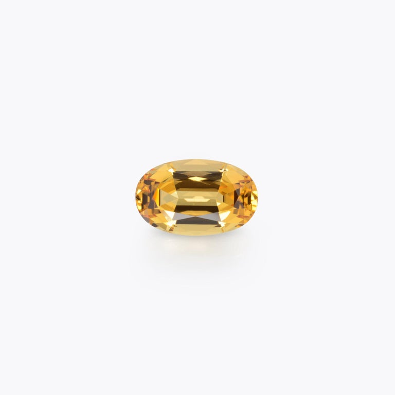 Contemporary Imperial Topaz Ring Gem 4.20 Carat Unset Loose Gemstone For Sale
