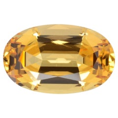 Imperial Topaz Ring Gem 4.20 Carat Unset Loose Gemstone