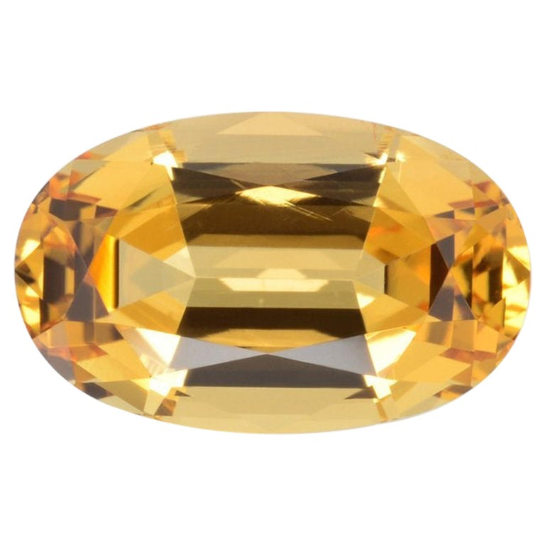 Imperial Topaz Ring Gem 4.20 Carat Unset Loose Gemstone For Sale