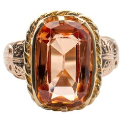 Imperial Topaz Ring Certified Untreated Brazil Unisex