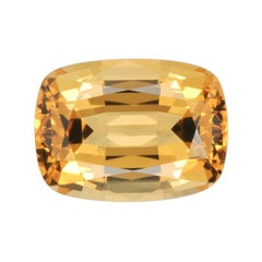 Imperial Topaz Ring Gem 5.14 Carat Cushion Loose Gemstone