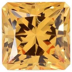 Imperial Topaz Ring Gem 5.61 Carat Princess Cut Brazil