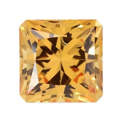 Imperial Topaz Ring Gem 5.61 Carat Princess Cut Brazil Loose Gemstone