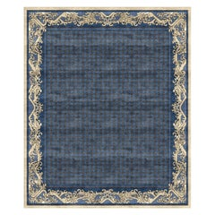 Imperial Waves Lapis - Blue Luxury Hand Knotted Wool Silk Rug