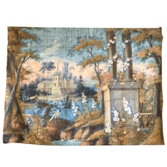 Important 18th Century French Toile Peinte Tapestry