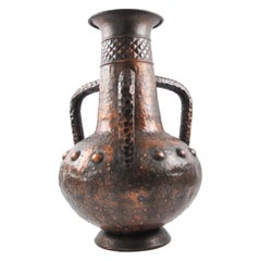 Important 1960s Italian Copper Baluster Urn Vase