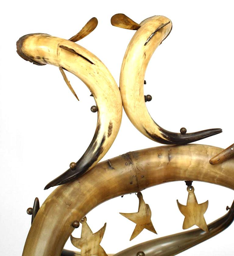 Important 19th C. American Steer Horn Chaise  For Sale 5