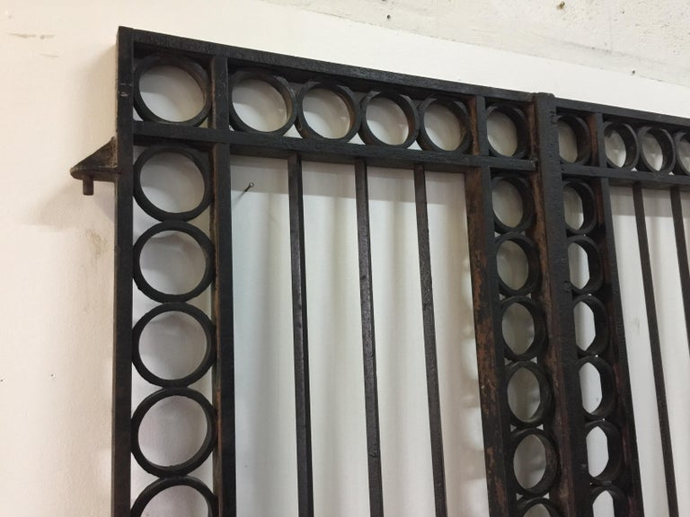 20th Century Important 19th Century French Iron Entrance Gates For Sale