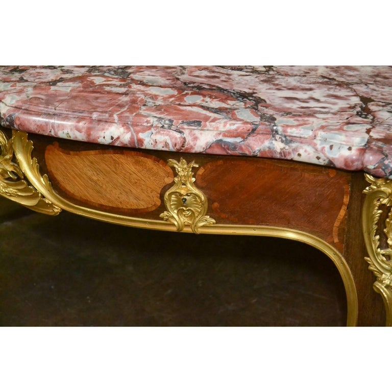 Louis XV Important 19th Century French Desk by Ebeniste For Sale