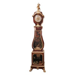 Important 19th Century French Grandfather Clock Signed Forest