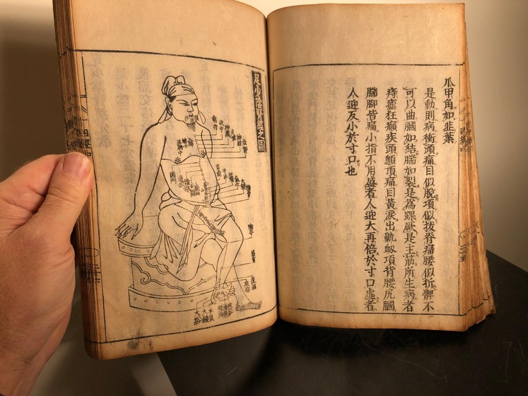 Important Acupuncture Japanese Antique Woodblock Guide Book, 19th Century Prints For Sale 8
