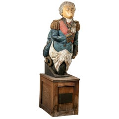 Admiral Horatio Nelson 19th Century English Ship's Figurehead- Ex H.M.S. Bo