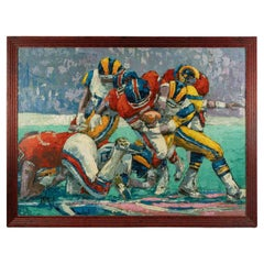Important American Football Painting