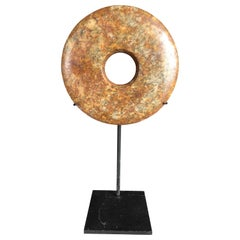Important Ancient Chinese Heavenly Jade Bi Disc with Letter of Authenticity