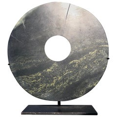 Important Ancient Chinese Round Jade Bi Disc, 2000 BCE