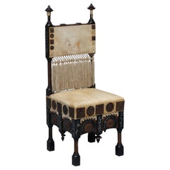 Important and Rare Original circa 1900 Carlo Bugatti Occasional Chair Ebonised