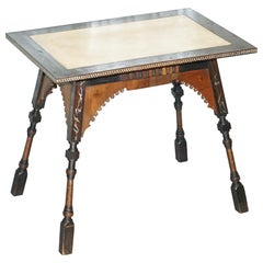 Important and Rare Original circa 1900 Carlo Bugatti Occasional Table Ebonized