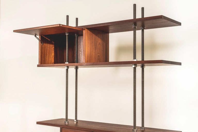 Important and Unique Mahogany Cabinet by Lord Snowdon and Sir Terence Conran For Sale 3