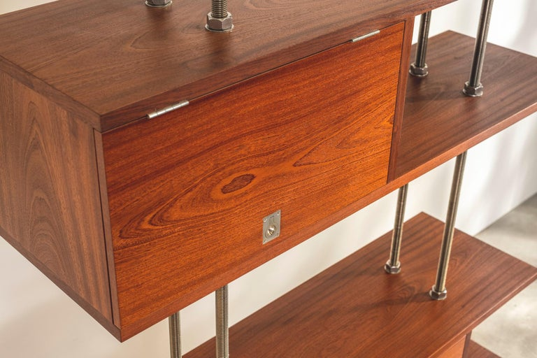 Important and Unique Mahogany Cabinet by Lord Snowdon and Sir Terence Conran For Sale 5