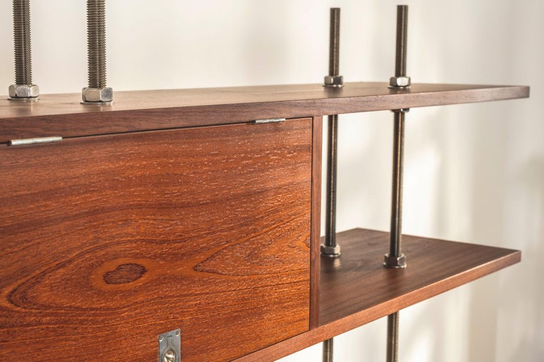Important and Unique Mahogany Cabinet by Lord Snowdon and Sir Terence Conran For Sale 6